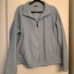Columbia Dusty Blue Fleece Jacket size 2X